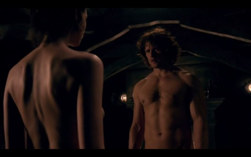 Sam Heughan Shirtless