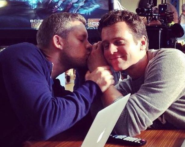 Jonathan Groff and Russell Tovey