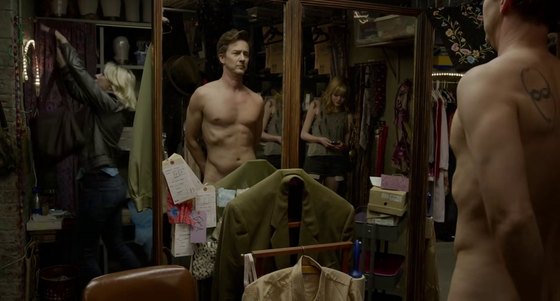 Ed Norton Naked in Birdman